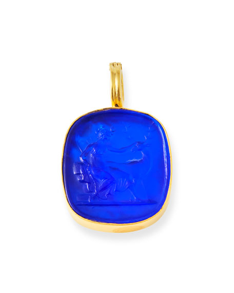 DINA MACKNEY Laps Blue Italian Glass Pendant