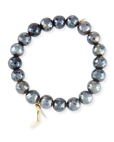 Labradorite & Diamond Stiletto Bracelet