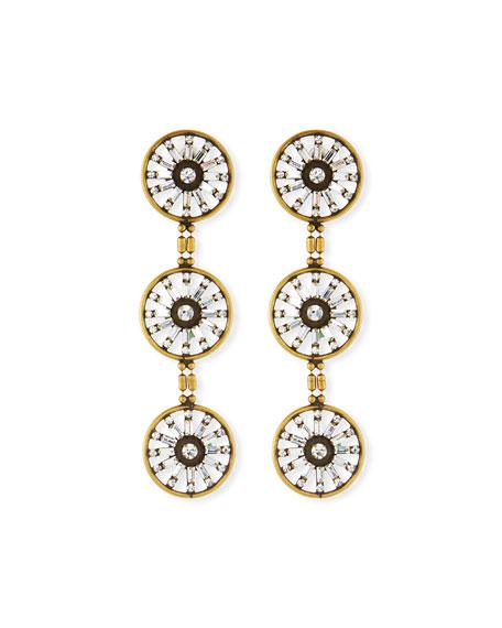 AUDEN Orlando Triple Drop Earrings in Gold