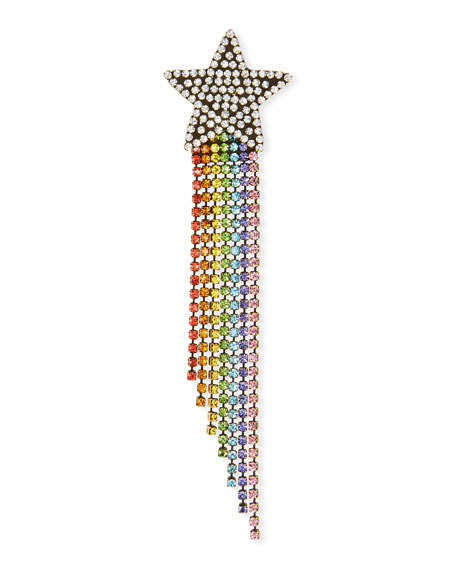 AUDEN Rainbow Shooting Star Brooch in Multi
