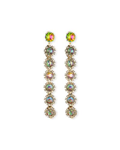 Beam Crystal Drop Earrings