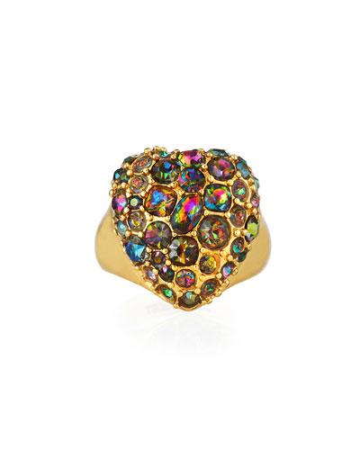 Nina Crystal Heart Ring