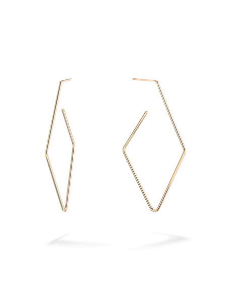 Lana 14K GOLD DIAMOND-SHAPED HOOP EARRINGS