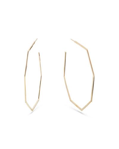 14k Gold Octagonal Hoop Earrings