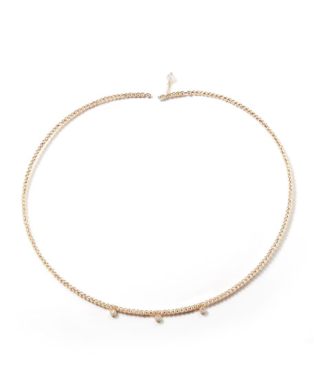 Mizuki 14k Gold Pearl & Diamond Choker Necklace