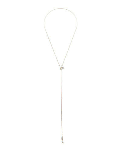 14k Gold Pearl Slider Necklace