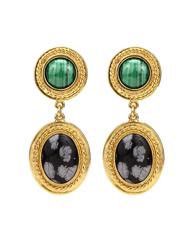 Malachite Sodalite Earrings