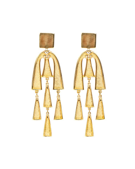 Ben-Amun Square Top Dangle Earrings