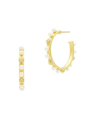 Textured Vertical Hoop Earrings