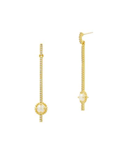 Textured Linear-Drop Earrings