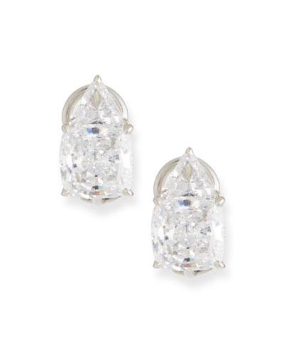 Trillion & Cushion Cubic Zirconia Earrings