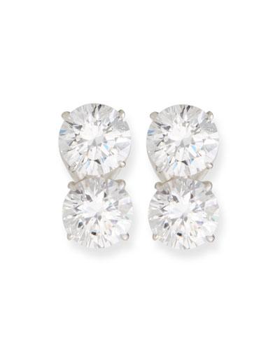 Double Cubic Zirconia Earrings