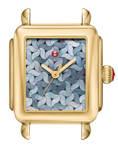 18k Gold Deco Mosaic Watch Head