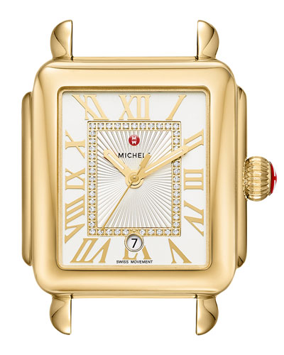 18k Gold Deco Madison Diamond Watch Head