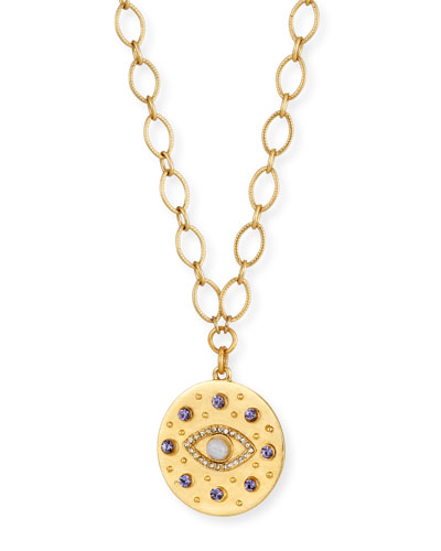 Crystal Evil Eye Pendant Necklace