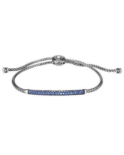 Classic Chain Pull-Through Bracelet w/ Blue Sapphires,