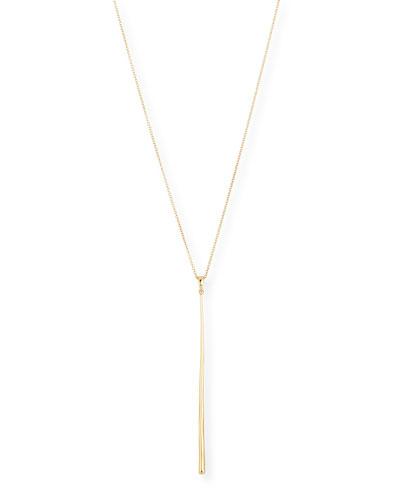 18k Gold Classico Stick Pendant Necklace