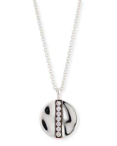Senso Diamond Disc Pendant Necklace