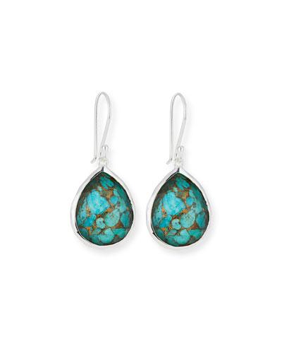 Wonderland Bronze Turquoise Teardrop Earrings
