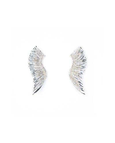 Madeline Paint-Splatter Statement Earrings