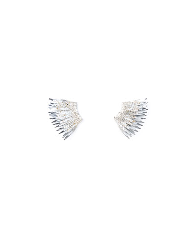 Madeline Mini Paint-Splatter Statement Earrings