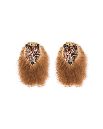 Bear Faux Fur Earrings