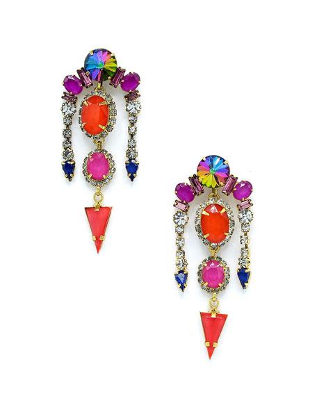 Elizabeth Cole Liora Multicolor Drop Earrings