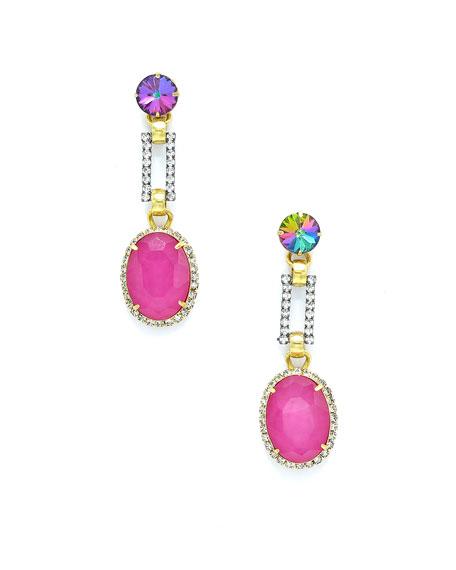 Elizabeth Cole LARISSA CRYSTAL & GLASS DROP EARRINGS