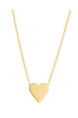 Sarah Chloe Lily Solid Heart Pendant Necklace