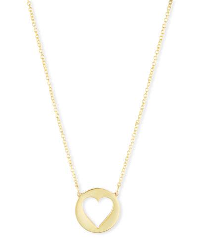 Eva Cutout Heart Pendant Necklace
