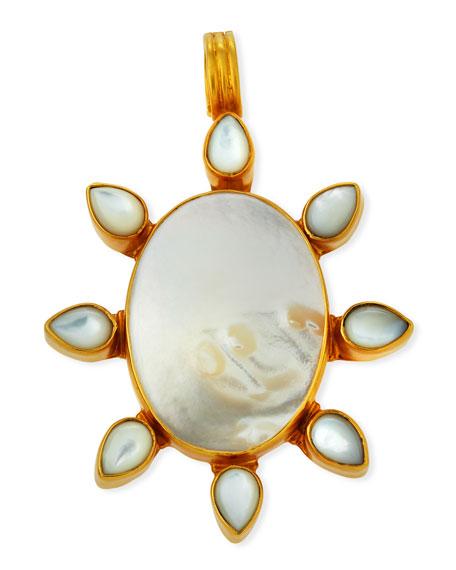 DINA MACKNEY Mother-Of-Pearl Flower Pendant in White