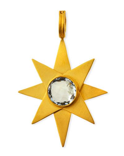 White Topaz Starburst Pendant