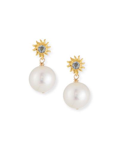 Starburst Pearl Drop Earrings