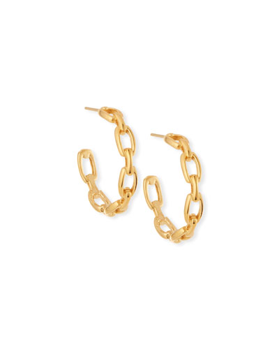 Jennifer Zeuner Carmine Small Link Hoop Earrings