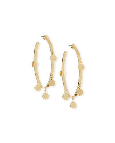 Yolanda Disc Hoop Earrings