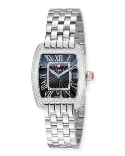 Urban Mini Diamond Bracelet Watch, Black