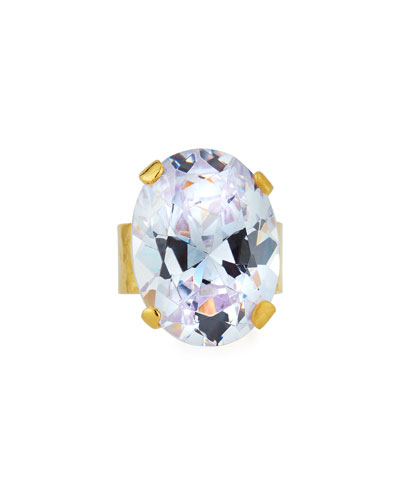Clear Cubic Zirconia Oval Ring