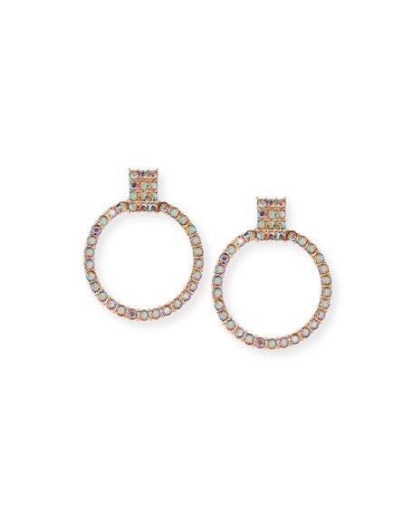 BaubleBar Adalia Stone Hoop Earrings