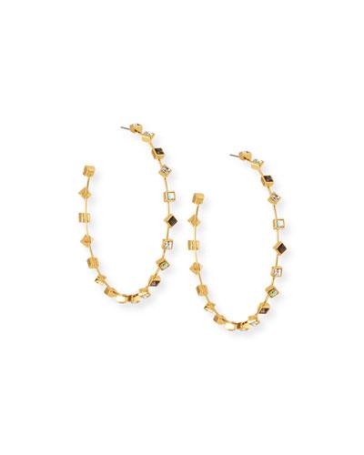 Elise Crystal Hoop Earrings