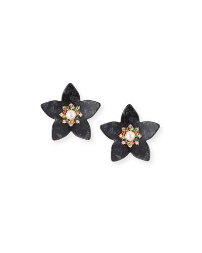 Amariah Flower Resin Drop Earrings