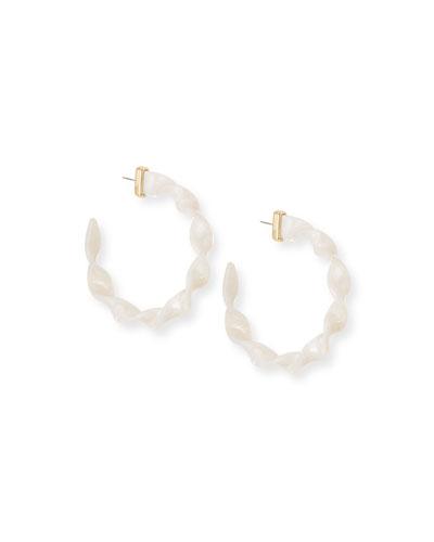 Delphia Resin Hoop Earrings