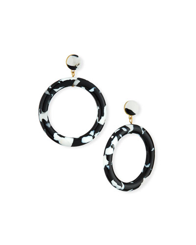 Marquis Front-Facing Hoop Earrings