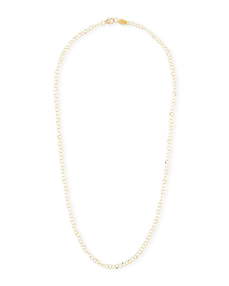 "JUDE FRANCES 18K Gold Hammered Circle Chain Necklace, 18""L"