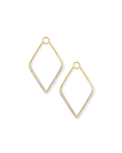 Lisse 18k Gold Large Diamond Kite Earring Charms