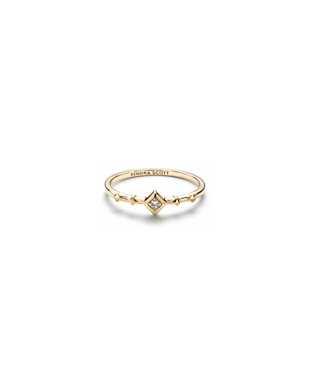 Kendra Scott 14k Gold Diamond Wave Ring