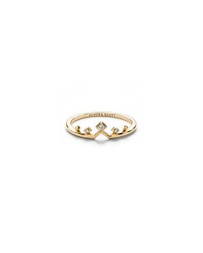 Michelle 14k Gold & Diamond Ring