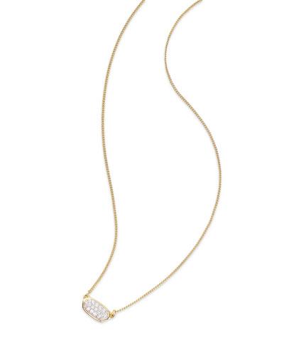 Lisa 14k Gold Diamond Pendant Necklace