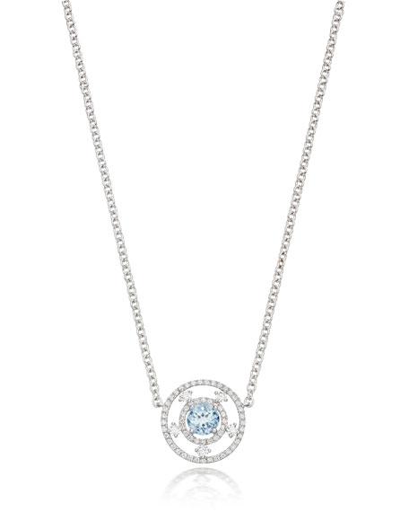 KIKI MCDONOUGH Apollo 18K Gold, Blue Topaz & Diamond Necklace in White/Gold