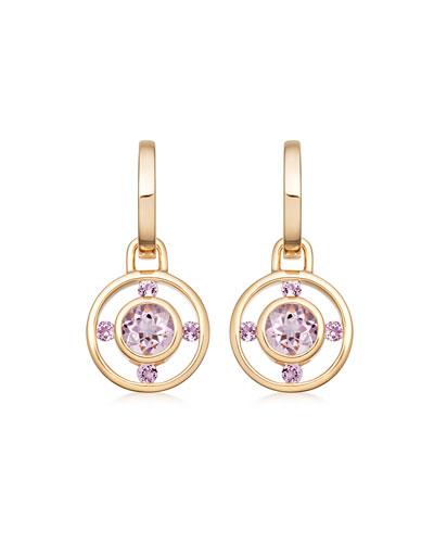 Forget Me Not 18k Gold & Lavender Amethyst Drop Earrings