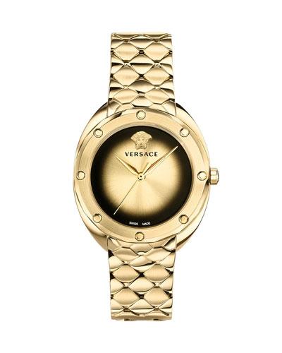 38mm Shadov Bracelet Watch, Golden